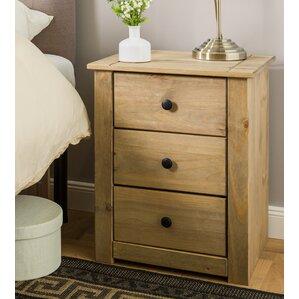 Beautiful Harold Parker 3 Drawer Bedside Table