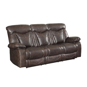 Bonenfant Power Leather Reclining Sofa by Red Barrel Studio