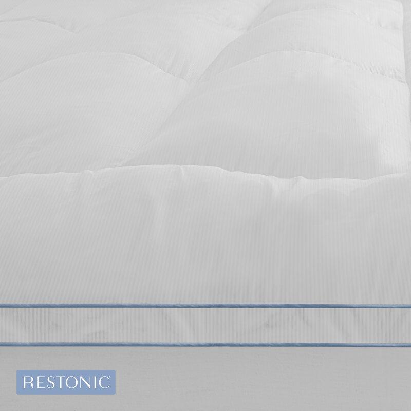 "d7c1a804aad6 Restonic 3"" Memory Fiber & Memory Foam Hybrid Mattress Topper & Reviews |  Wayfair"