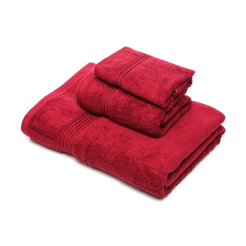 48f539d90e Patric 3 Piece 100% Cotton Towel Set   Reviews