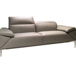 Greta Leather Loveseat by Bellini Modern Living