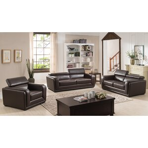 Calvin 3 Piece Living Room Set by AC Pacific