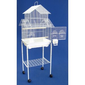 Pagoda Small Bird Cage with Stand