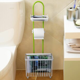 Caddy Tissue Freestanding Toilet Paper Holder With Magazine Rack