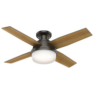 Flush mount ceiling fans youll love wayfair 44 dempsey low profile 4 blade ceiling fan with handheld remote and light aloadofball Gallery
