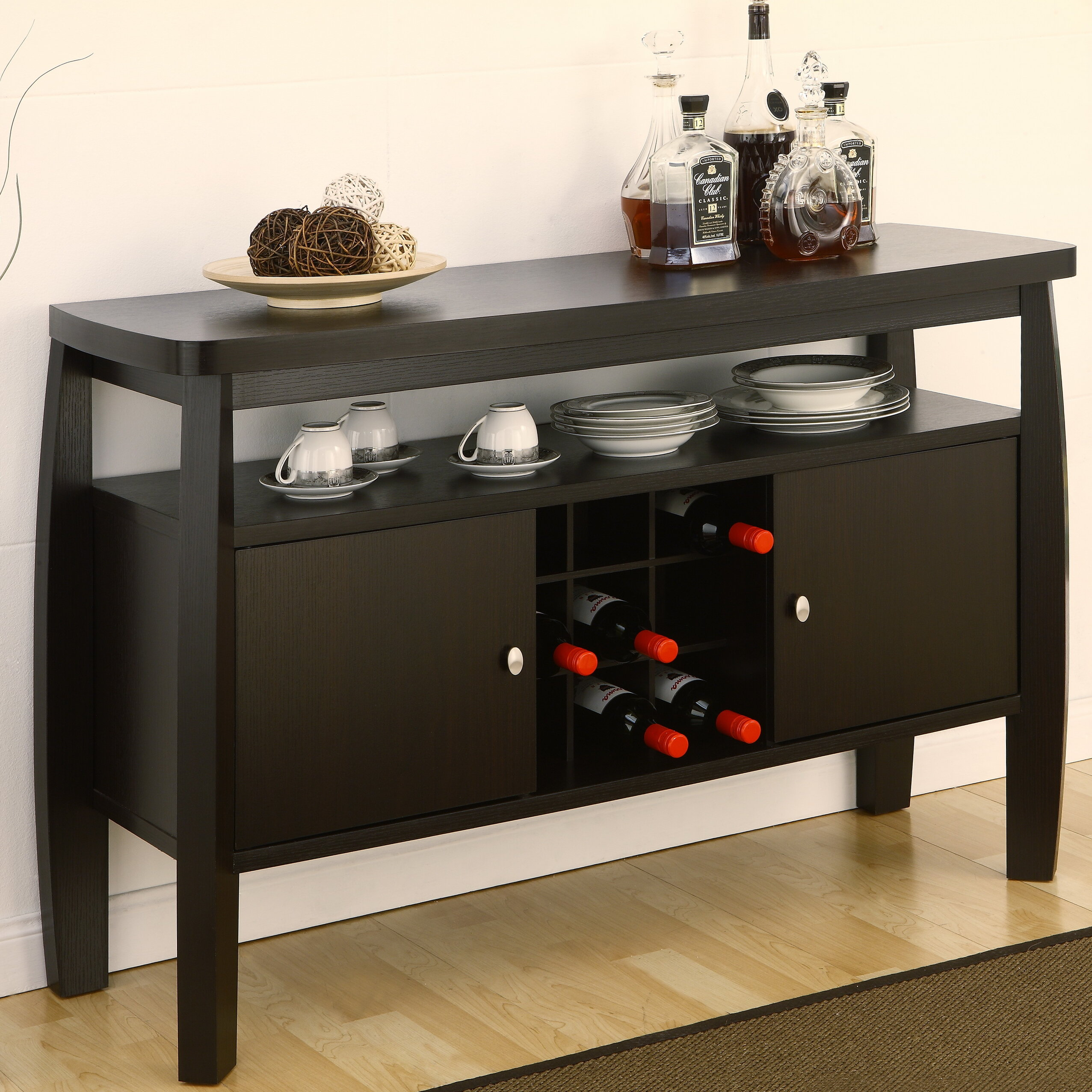 buffets credenzas lg teak noir sideboards catary sideboard table