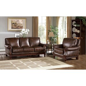 Autumn Leather 2 Piece Living Room Set by Fleur De Lis Living