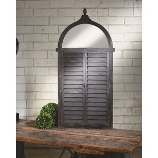 Shutter Wall Mounted Jewelry Armoire With Mirror