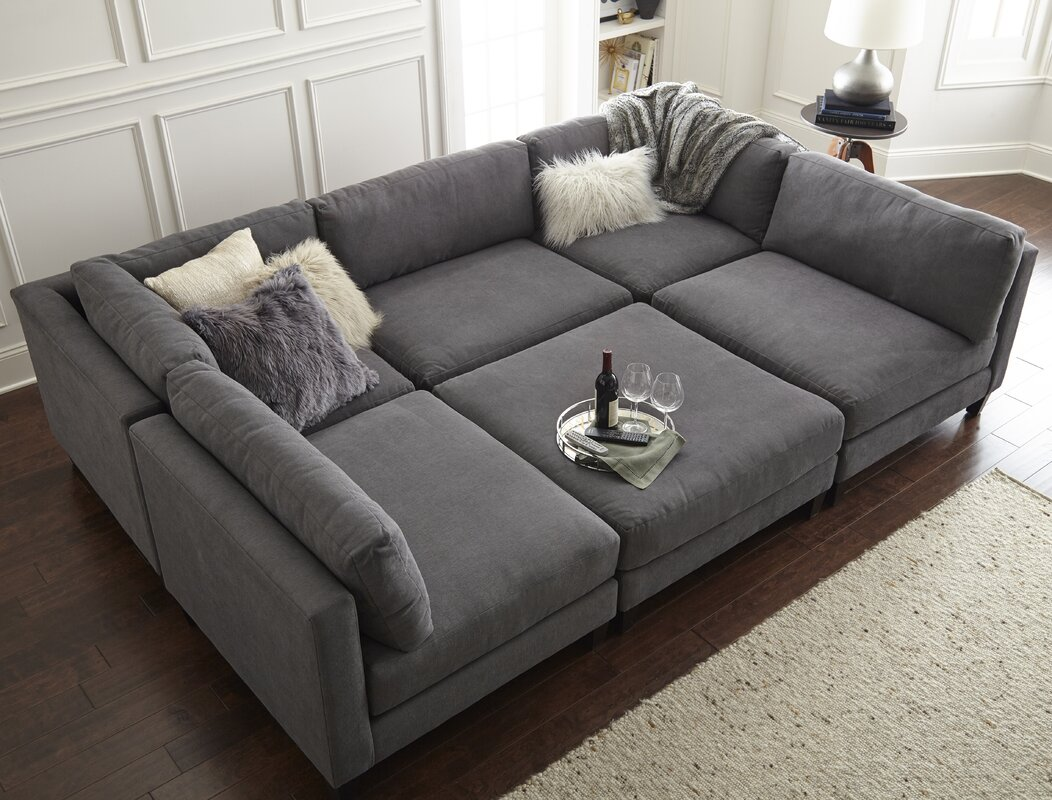 Home by sean catherine lowe chelsea modular sectional for U shaped sofa in living room