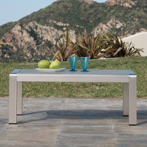 Durbin Outdoor Aluminum Coffee Table by Wade..