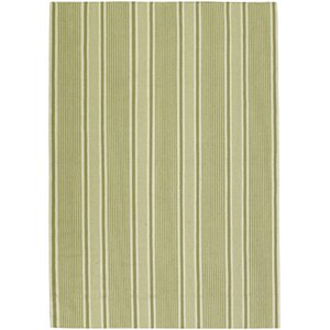 Farmhouse Stripes Green Area Rug