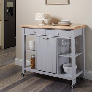 Delrick Modish Kitchen Island With Casters
