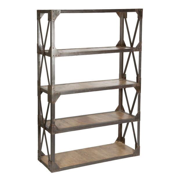 "Cdi International Industrial Kitchen Cart With Mango Top: CDI International Industrial 74"" Etagere Bookcase"