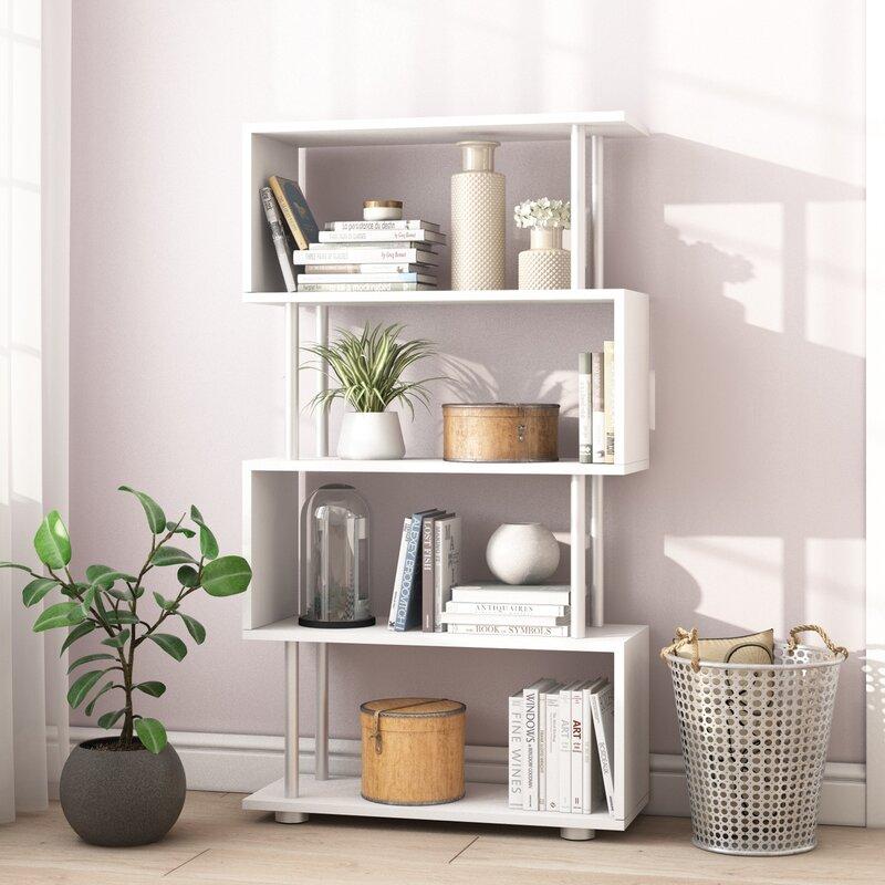 Riley Ave Emily S Shape Bookcase Reviews Wayfair Co Uk