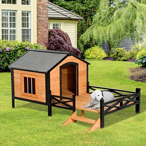 Tucker Murphy Pet Fauntleroy Cabin Outdoor Covered Elevated Dog House Wayfair