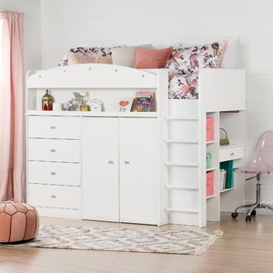 Tiara Twin Loft Bed with Desk