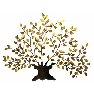 Metal Tree Of Life And Birds Wall Decor