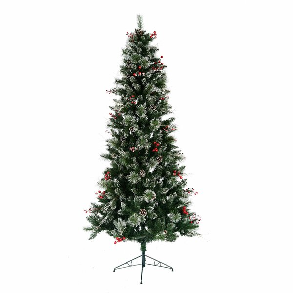 Artificial Christmas Tree Warehouse: The Holiday Aisle Snow Tipped Berry 7' Green Pine