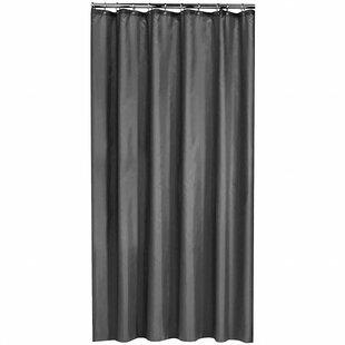 Extra Long Shower Curtain 72 X 78 Inch Gamma Dark Grey Fabric