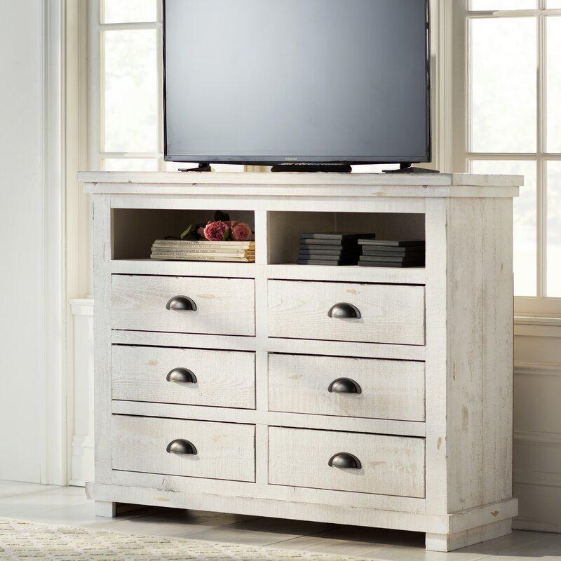 Rustic Bedroom Tv Chest Bedroom Tv Stand Bedroom Tv: Lark Manor Castagnier 6 Drawer Media Chest & Reviews