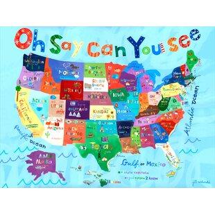 Usa Map Wall Art Wayfair