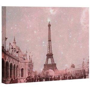 stardust covering vintage paris memorabilia wall art on wrapped canvas