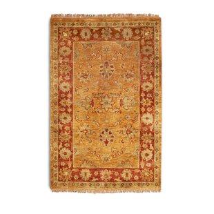 Taj Handwoven Wool Gold/Rust Rug by Wildon Home