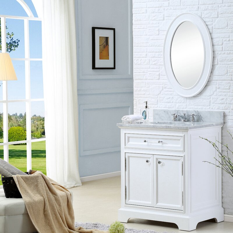 "darby home co colchester 30"" single sink bathroom vanity set with"