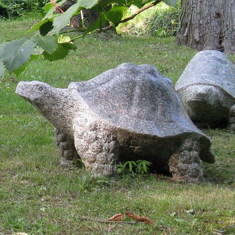 Stone Age Creations Granite Galapagos Tortoise Statue