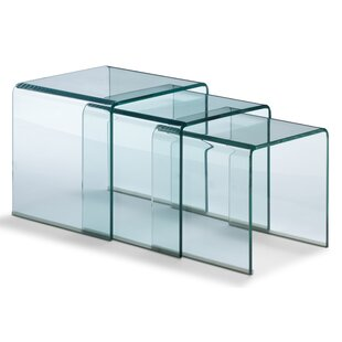 Modern glass nesting tables allmodern fritz 3 piece nesting tables watchthetrailerfo