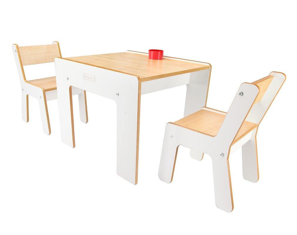 little helper 3 tlg quadratisches kindertisch und stuhl. Black Bedroom Furniture Sets. Home Design Ideas