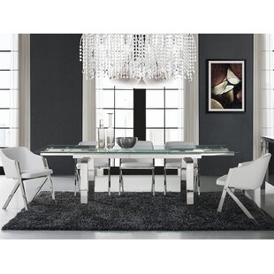 Modern Contemporary Narrow Extendable Dining Table AllModern - Slender dining table