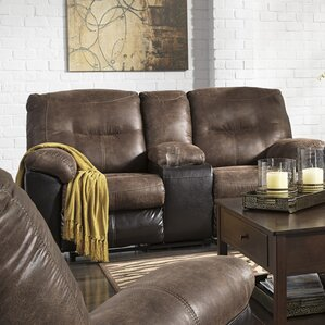 Elsmere Leather Reclining Sofa by Latitude Run