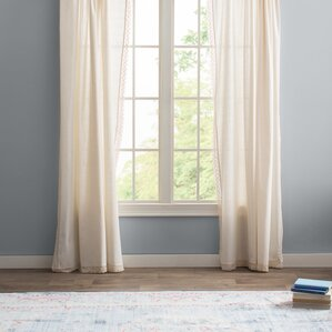 arraignee solid semisheer pinch pleat curtain panels set of 2