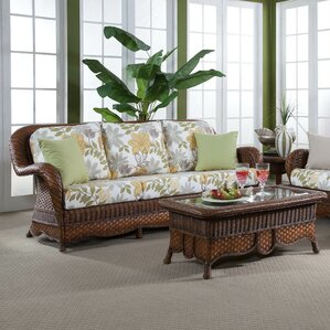 Autumn Morning Bamboozel Plantain Sofa by South Sea Rattan