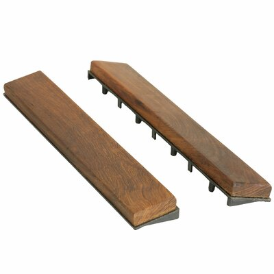 "Ez-floor Interlocking Flooring Wood 12"" X 1"" End Pieces Snap-in In Oiled Baredecor"