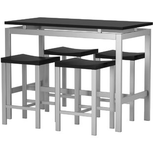 Swigart 5 Piece Pub Table Set  sc 1 st  AllModern & Modern u0026 Contemporary Swigart 5 Piece Pub Table Set | AllModern