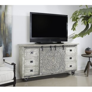 Veach 2 Sliding Door 6 Drawer Media Credenza
