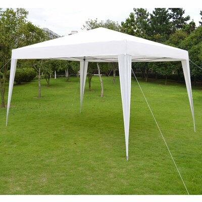 Wedding Folding 13 Ft. W x 10 Ft. D Steel Pop-Up Party Tent & One Person Pop Up Tent | Wayfair