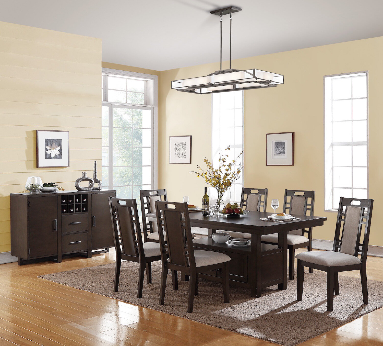 Winston Porter Nika 7 Piece Dining Set U0026 Reviews | Wayfair