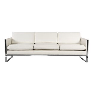 Modern U0026 Contemporary White Leather Sofas Youu0027ll Love | Wayfair