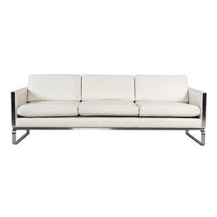 Modern U0026 Contemporary White Leather Sofas Youu0027ll Love | Wayfair
