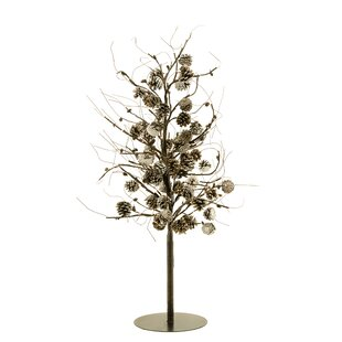 Outdoor topiary with lights wayfair pinecone topiary tree aloadofball