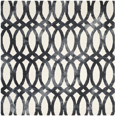 Zipcode Design Edie Hand-Tufted Cotton/Wool Graphite Area Rug Rug Size: Square 7'