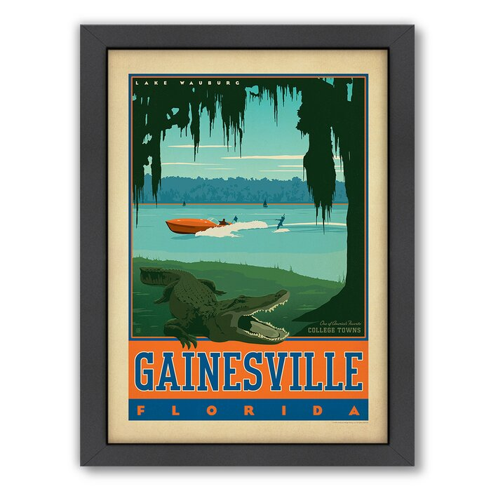 'Gainesville Florida' by Joel Anderson Framed Advertisement on Paper