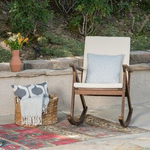 Beau Ossu Outdoor Rocking Chair With Cushions