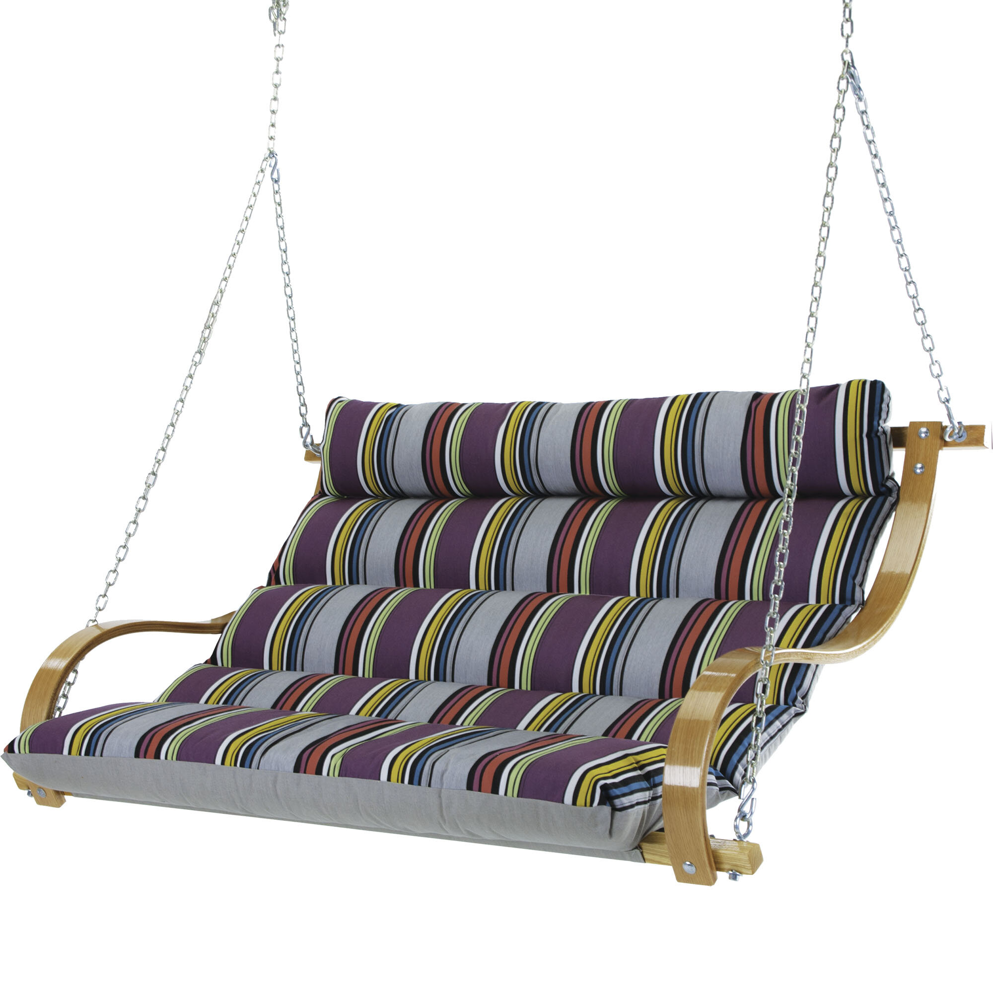 Laude Run Ladner Deluxe Cushioned Double Porch Swing Reviews Wayfair