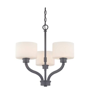 Large drum shade chandeliers wayfair kalina 3 light shaded chandelier aloadofball Choice Image