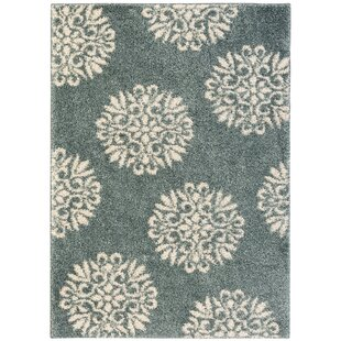 Castor Exploded Medallions Slate Blue Area Rug