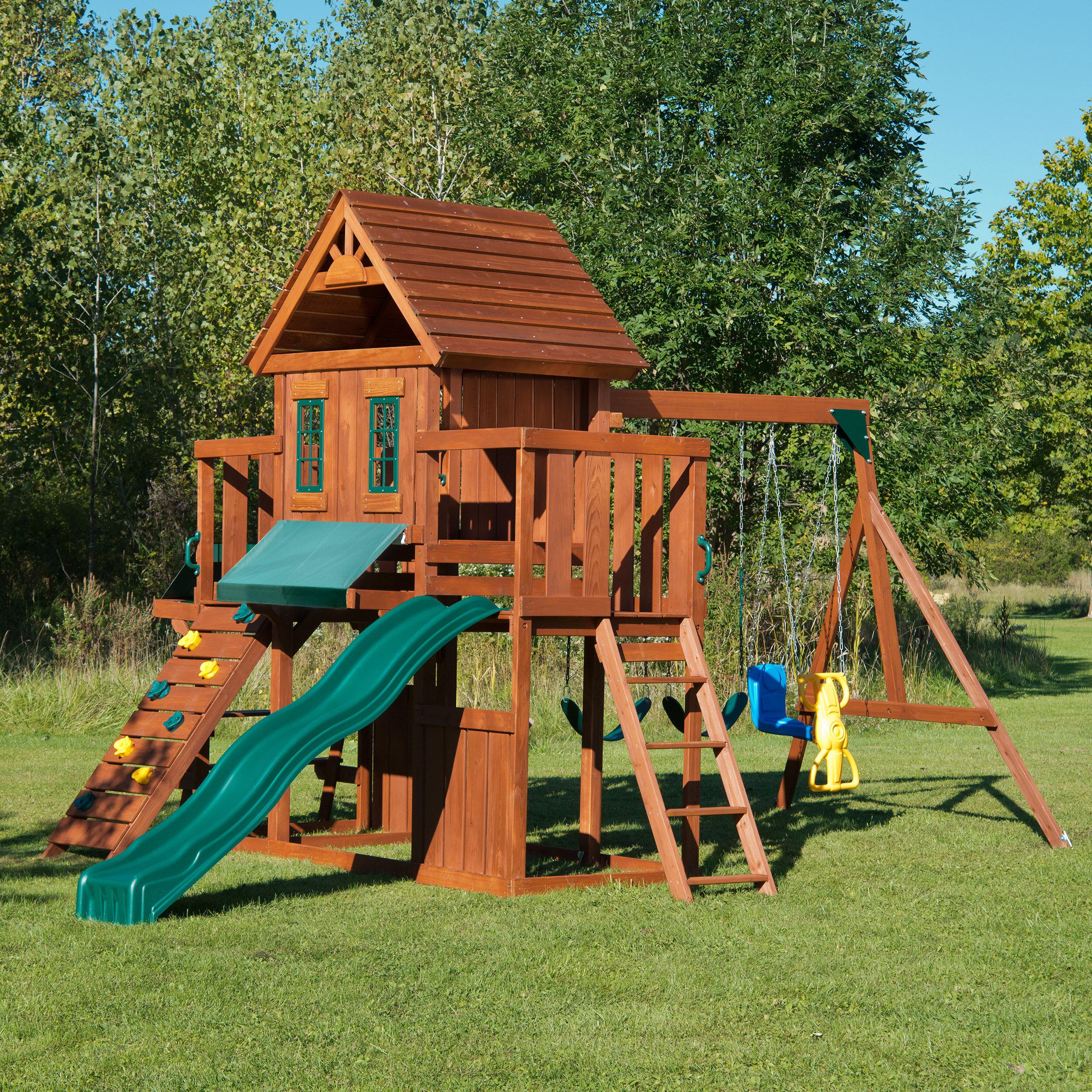 Swing N Slide Winchester Wood Complete Swing Set Amp Reviews